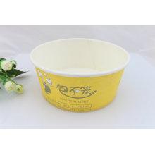 Conteneur en papier imprimé personnalisé à usage unique pour salade Escarole