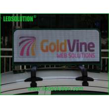 Exposição de diodo emissor de luz exterior do táxi da cor P5 completa para a propaganda dinâmica