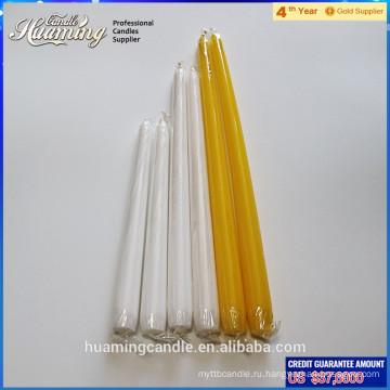 Самая популярная белая свеча конуса hotsale белая оптовая беспрокладочная белая свечка конусности для домашней пользы