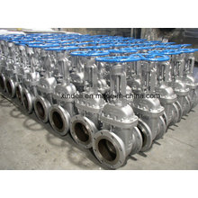 ANSI 600lb CF8m Body Flange End Stainless Steel Gate Valve