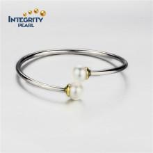 Plata esterlina 10,5-11mm cerca de la pulsera de perlas AAA grado de diseño