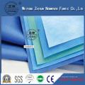 Tela no tejida impermeable de la tela PP + PE Material médico / tela no tejida de SMMS / 22g PP Spunbond SMS