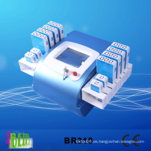 336 diodos 12 paletas Lipolaser que adelgaza la longitud de onda dual 650nm, máquina 980nm Br310
