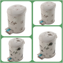 Pedal PP plástico de impresión Bin de polvo (FF-5308)