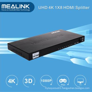 4k 1 in 8 out 1X8 HDMI Splitter