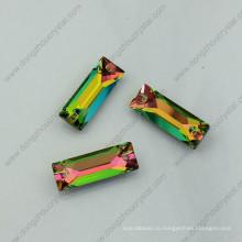 Радуга Цвет шить на камни стразы бусины с двумя отверстиями