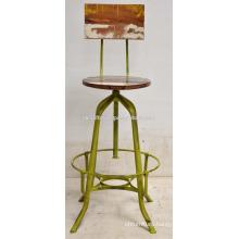 Industrial Vintage Retro Bar Stool Green Distress Old Color