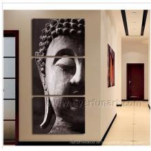 Wand-dekoratives Buddha-Gesichts-Ölgemälde auf Segeltuch (BU-019)