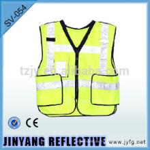 chaleco de seguridad reflectante de desglose con bolsillos