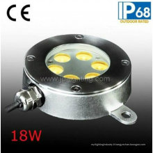 Lumières sous-marines de bateau de l'acier inoxydable 18W LED de la CE Approvel (JP94262)