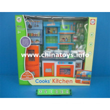 Vajilla de plástico para niña y casa de juguete (051434)
