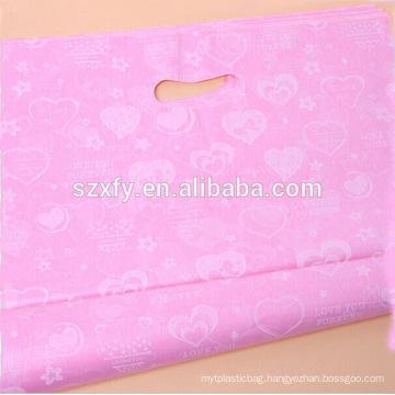 Custom Logo Printing Patch handle Plastic Shopping Bag