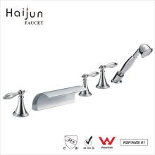 Haijun Cheap Triple Handle 0.1~1.6MPa Thermostatic Waterfall Bathtub Faucet