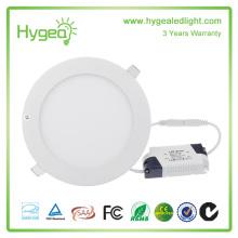 Ultra fino design 4W LED teto recesso slim rodada luz do painel
