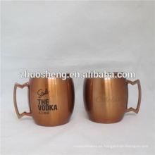 tazas de café de alta calidad de impresión de la insignia de encargo con tapa