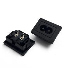 JEC JR-201SB(S) AC IEC  C8 Socket 2 Pin AC Socket Male Inlet Plug Connector Socket
