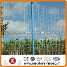 PVC revestido de malla de alambre euro tejido valla