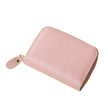 Lady Coin Pouch Card Holder Arrangörer Zipper Close