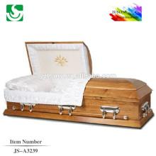 2015 bonne conception cercueils modernes en bois massif
