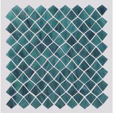 Malachite Green Quadrilateral Kite Shape Glass Mosaic