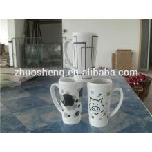 high quality ceramic coffee mug/bone china mug/angel wings coffee cup mug