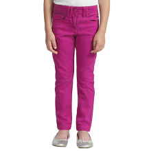 Children Stretchable Cotton Trousers Embroidered Denim Pants