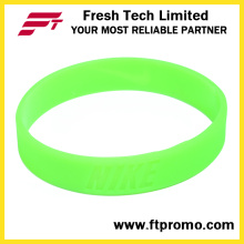 Glow in Dark Customized Silicone Wristband com nenhum logotipo