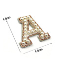 26 Letter Rhinestone Patch 3D Beaded Embroidery Patch