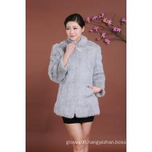 Women Middle Long Style Fur Coat Elegant Clothing Long Fur Jacket Lady Women