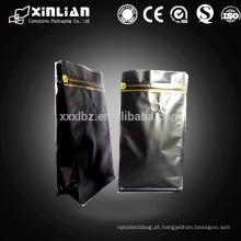 Acabamento fosco sacos de alumínio para embalagem de café com válvula