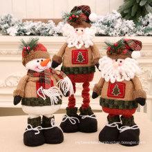 New Christmas retractable Doll Christmas gift Christmas decoration supplies Santa doll