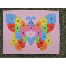 Eva de Eva espuma Puzzle etiqueta engomada auta-adhesivo 3D hecho a mano Artesanias juguetes aprendizaje y juguetes de la educación
