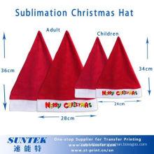 Sublimation Blank Christmas Santa Hat Children′s Christmas Hat