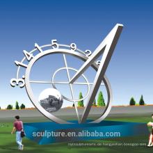2016 Edelstahl Runde Der Mond Abstrakte Kunst Skulptur / Moderne Große Landschaft Statue