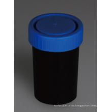 Schwarzer Urin und Hocker Container, PP Material, 100ml