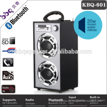 SD USB FM Kopfhörer Karaoke Fernbedienung tragbaren hölzernen Lautsprecher