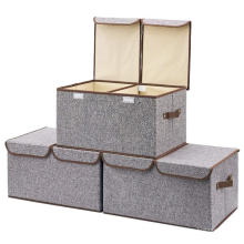 Bra Storage Boxes Bins Cardboard Collapsible Foldable Nonwoven Fabric for Cloth Custom Made Clothing Organizer Rectangle Modern