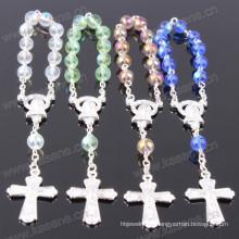 Verschiedene Farben 6mm Licht runde Perle Kristall Schmuck