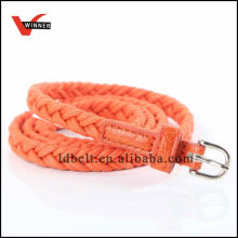 Hot Sale Orange Girl's Fashion Dressed Braided Belt
