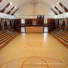 Профессиональный крытый баскетбольный пол ПВХ