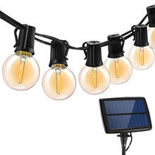 LED String Round Solar String Lights im Freien
