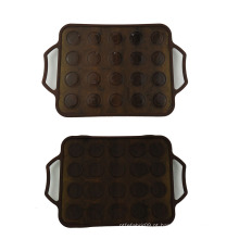 20 buracos de silicone Macaron Mats
