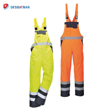 High Visibility Waterproof Reflective Work Suit Coveralls Overalls Mens EN471 Reflective Tape Workwear