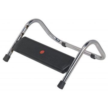 Repose-pieds avec base ergonomique réglable et support en métal