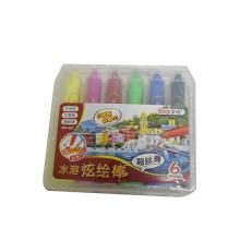 6 unids niños escuela fluence óleo pastel instrumento marcador soluble en agua cera crayón