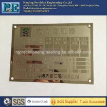 Profesional de plástico personalizado puerta signo