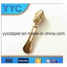 Placage en or Nylon Zipper Slider 5 #
