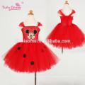 Baby Girls Cartoon Vestido Red Kids Girl Tutu Dress Cute Tulle Party Birthday Dress Children Christmas Costume
