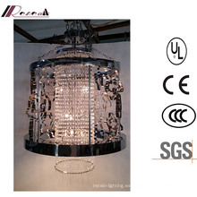 China Descuento Clásica Lámpara colgante de metal hueco negro Crystal