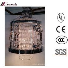 China desconto clássico preto Metal oco pendurado lustre de cristal